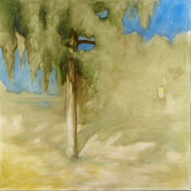 Odey Curbelo: Noche de Verano, 2011, olie på lærred, 200 x 180 cm. Foto: Anders Sune Berg.