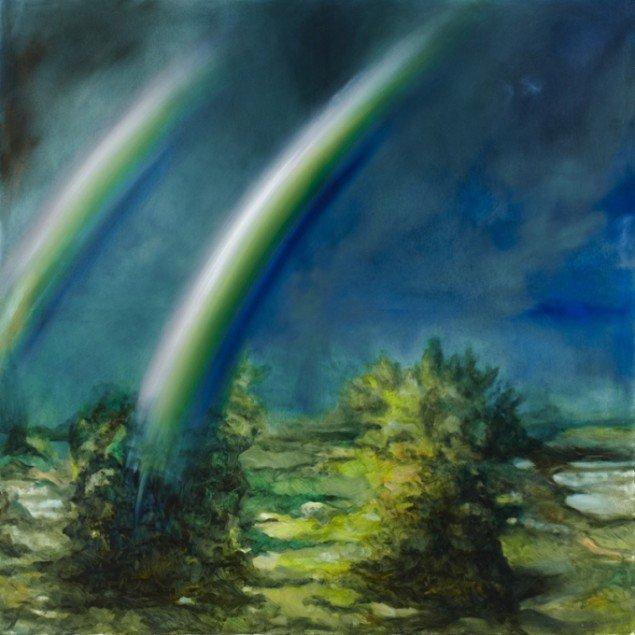 Odey Curbelo: Phenomenon, 2011, olie på lærred, 200 x 200 cm. Foto: Anders Sune Berg.