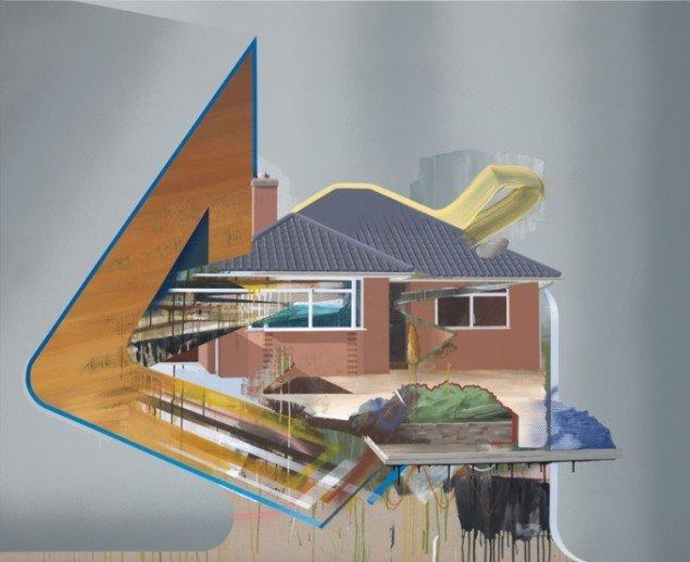 Ivan Andersen: Alternative Energikilder, 2011, 180 x 220 cm. Foto: Gunter Lepkowski.