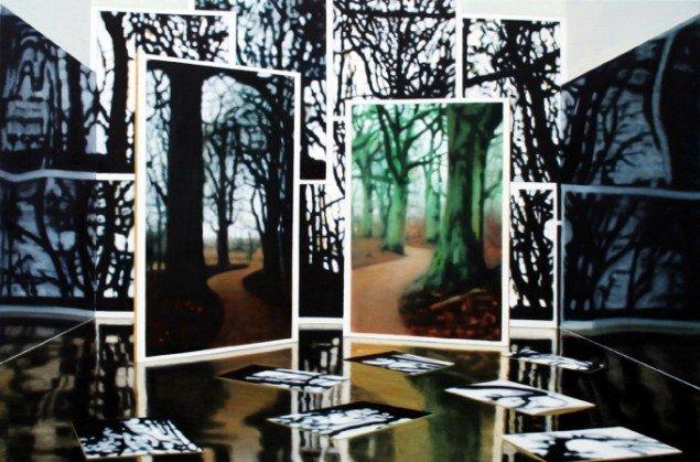 Uden titel, 2010. Olie på lærred, 80x120 cm. Foto: Galerie MøllerWitt