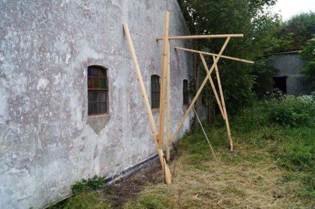 Peter Olsens skitsekonstruktion. Foto: Line Møller Lauritsen