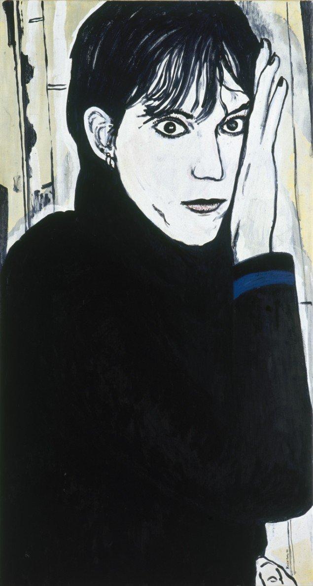 Patti Smith, 1999. Akryl på lærred, 149/80 cm. Fotograf: Bent Ryberg