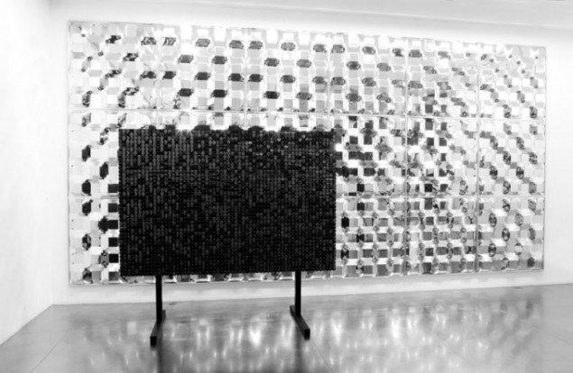 Børre Sæthres Untitled (A Blind Dot Matrix) fra 2012 i dets oprindelige form og materiale. (Carnegie Art Award 2014, Pressefoto)