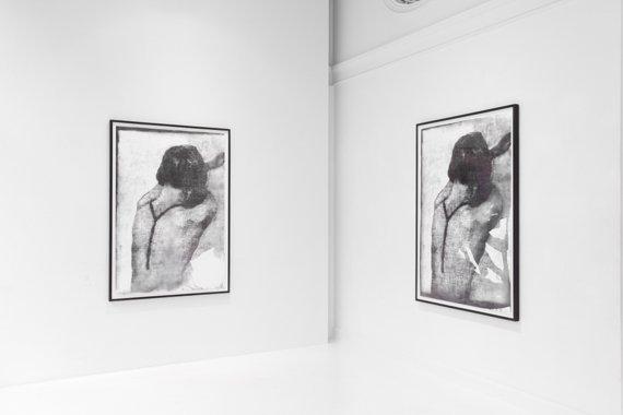 Udstillingsview, Slow Fading Hand. På Martin Asbæk Gallery, 2014. Foto: David Stjernholm