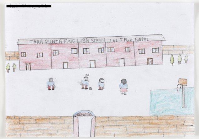 Letter to Rabi 2011-13, detalje, tegning af Rabi. Foto: Jeppe Sørensen.