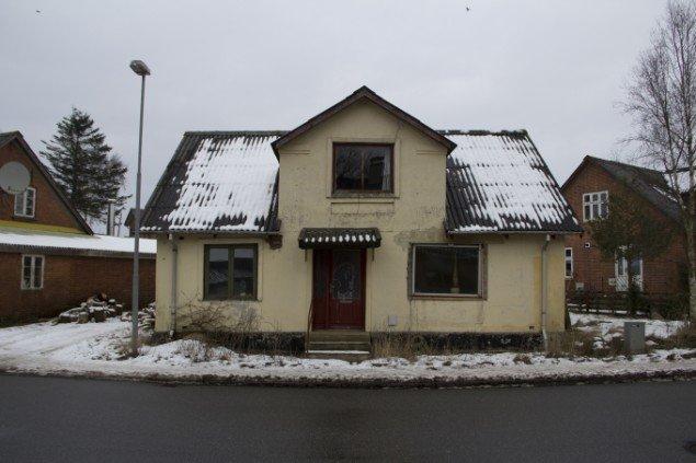 Skivevej 13 umiddelbart før nedrivning. Foto: Birgitte Ejdrup Kristensen
