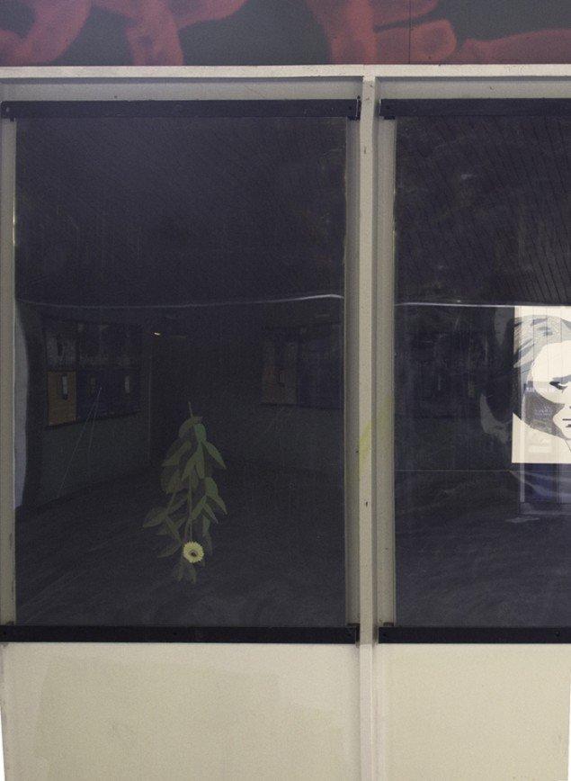 Frederikke Andersen: Nocturne. Mixed media, detalje. Udstillingsview fra Nocturne, Udstillingsstedet Sydhavn Station. Foto: Morten Jacobsen