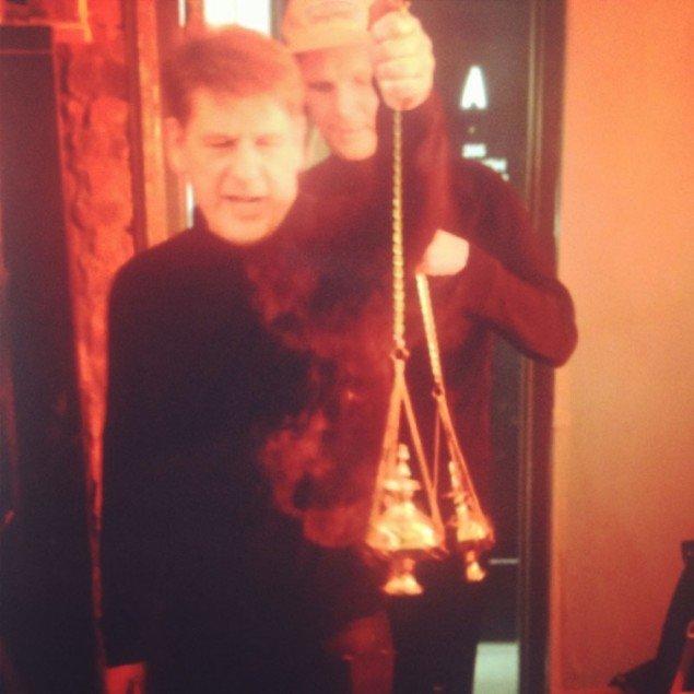Henrik Plenge Jakobsen & Jakob S. Boeskov, performance som en del af Social Goth. (Foto: Scandinavian Institute)