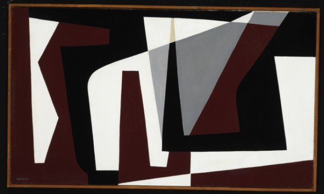Preben Hornung: Konkret Komposition,1950. Foto: Bruun Rasmussen Kunstauktioner