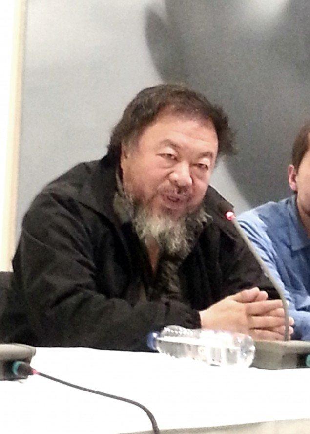 Ai Weiwei under pressemødet. Foto: Ole Bak Jakobsen