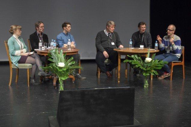 Paneldebat ledet af Claus Peder Pedersen, PhD i arkitektur. Foto: Barbara Katzin