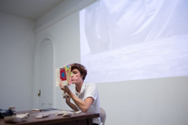 Fiona James: The Leaky Lecture Series, 2015. Foto: Samuel Draxler