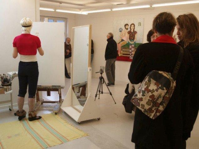 Sophie Dupont: Painting Performance. Foto: Bente Jensen