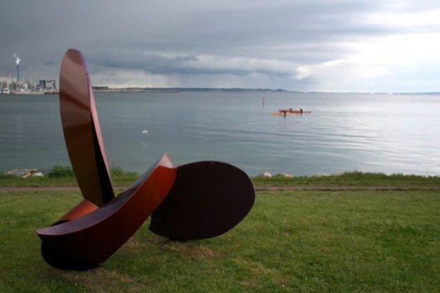 Bruce Radke: Kvartet. Sculpture by the sea, Århus 2009. Foto: Per Plougmann Povlsen
