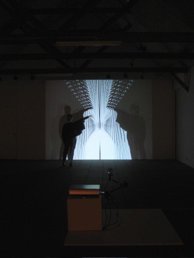 Interaktion i videoværket RETROACTION II. Foto: Bente Jensen