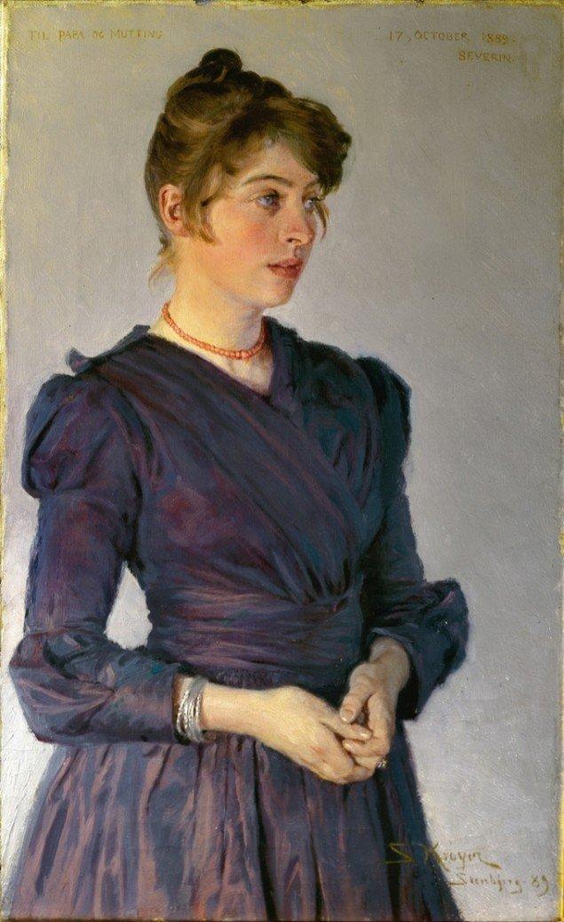 P.S. Krøyer: Marie Krøyer. Stenbjerg, 1889, Foto: Skagens Museum