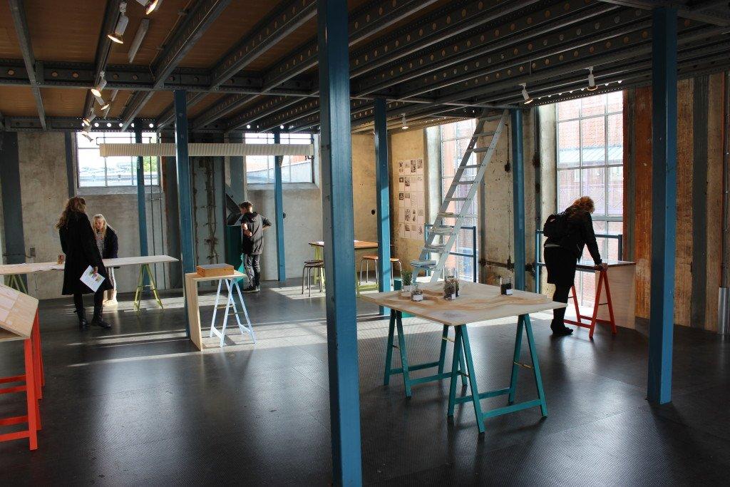Den synlige og usynlige by: Slagelse. Røde Tårn, 2014. I samarbejde med designer Johanne Aarup Hansen. Installationsview. Foto: Maj Horn