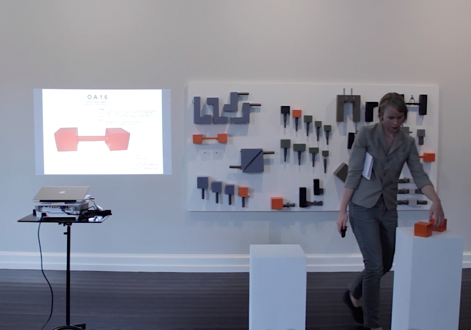 My tool wall, 2014. Brandts. Lecture Performance. Foto: Stine Gro