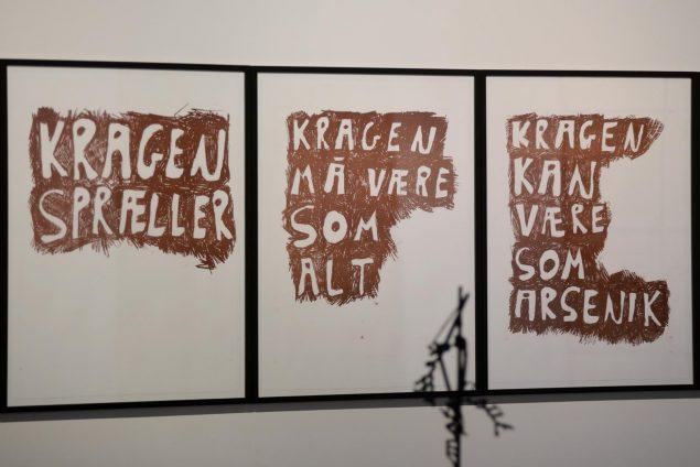 Svend-Allan Sørensen: KRAGEN, 2014, direkte kopier. Foto: Ole Jørgensen