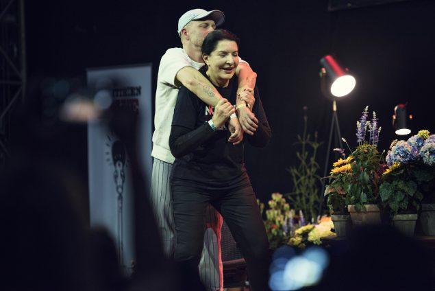 Marina Abramovic og Tal R. Foto: Mathias Løvgreen Bojesen