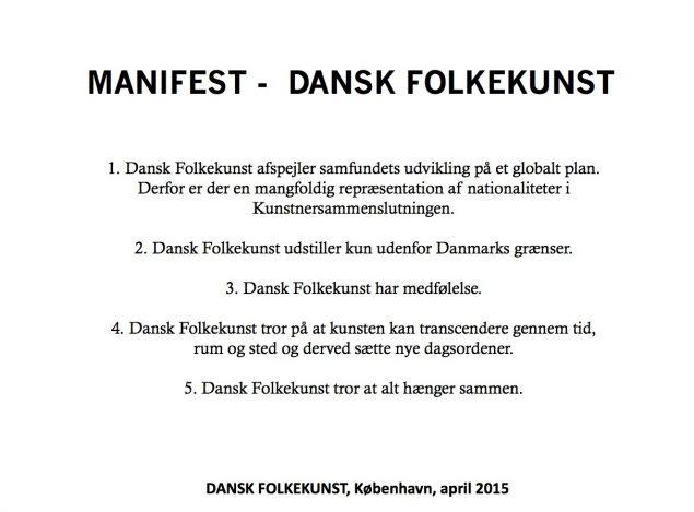 Manifestet af Dansk Folkekunst.