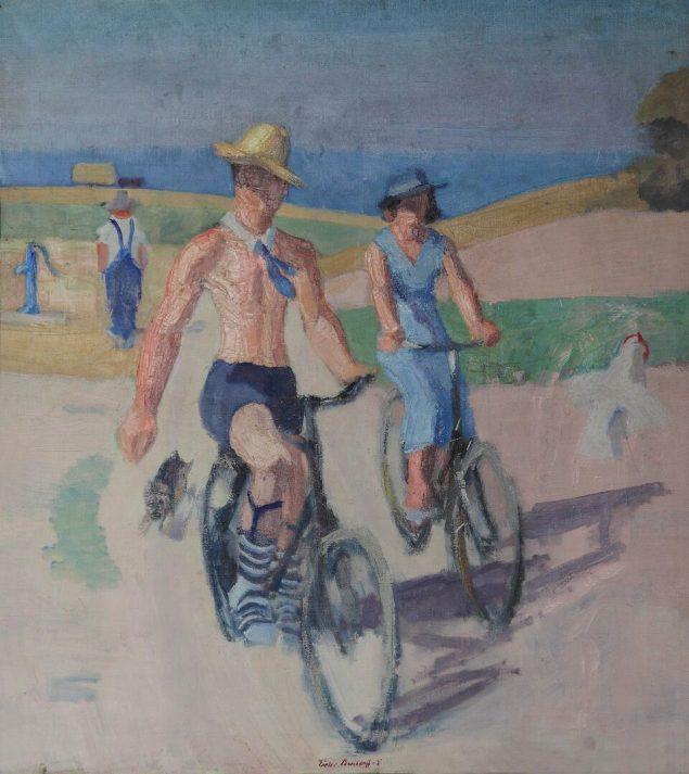 Foto: Cyklister af Victor Brockdorff, 1935.
