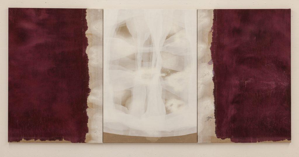 Ian McKeever:Portrait of a Woman, 2014-2015, Olie og acryl på lærred, 165 x 345 cm.